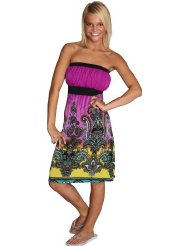 Alki'i Paisley Print Casual Evening Party Tube Cocktail Sundress