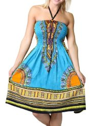 Alki'i Women's One-size-fits-all Tube Sundress/Coverup with African Print