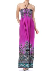 Sundress - Paisley Graphic Print Beaded HaltSundress - Multi Color Round Dials Print Beaded Halter Smocked Bodice Long / Maxi Dress ( 4 Colors ) - Clearance Sale !er SmockedSundress - Multi Color Round Dials Print Beaded Halter Smocked Bodice Long / Maxi Dress ( 4 Colors ) - Clearance Sale ! Bodice Maxi / Long Dress ( Purple + 7 Colors )