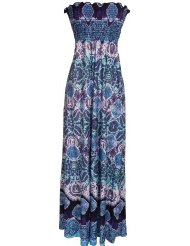 Hawaiian Smocked Tube Maxi Dress Junior Plus Size- Sundress