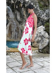 Sundress - Ladies' Hibiscus Flower Sarong by 1 World Sarongs - in your choice of color