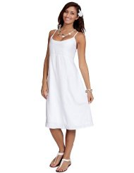 Women's Lined Summer Sundress by 1 World Sarongs - White
