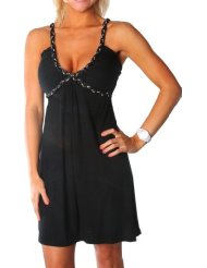 Sundress - Alki'i Studded Spaghetti Strap Casual Evening Party Cocktail Dress