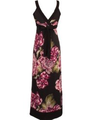 Plus Size Sundress Purple Floral Print Maxi Dress JR Plus Size (Up to 4X)