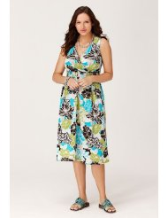 Avenue Plus Size Hibiscus Print Smocked Waist Sundress (Up to Size 28)