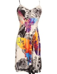 Graphic Sublimation Knee Length Plus Size Sundress (up to 3X)