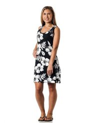 Alki'i Missy Hibiscus Tank Top Summer Beach Sun Dress for Women - OahuPrint