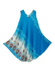 Pikulla Half Moon Sleeveless Women's Bali Print Gypsy Sundress Multicoloured X-Large