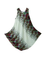Pikulla Half Moon Sleeveless Women's Ivy Hippie Gypsy Sundress Multicoloured X-Large