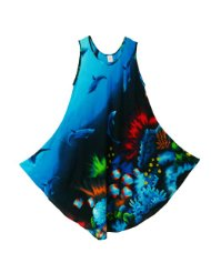 Pikulla Half Moon Sleeveless Women's Ocean Dolphin Sundress Multicoloured X-Large