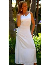 World Sarongs Womens Long White Lined Summer Dress