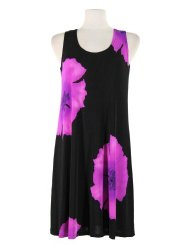 Jostar Women's Stretchy Missy Tank Dress with Print